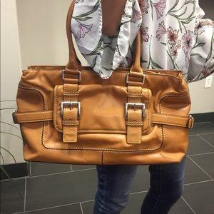 Vintage Michael Kors tan satchel PLUS free wallet
